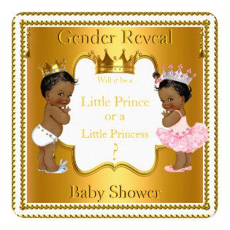 Prince Princess Gender Reveal Baby Shower Ethnic 13 Cm X 13 Cm Square Invitation Card