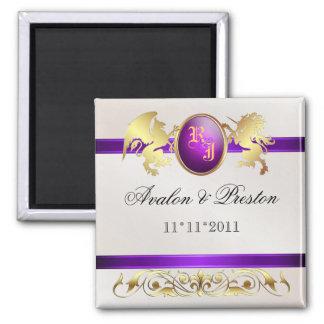 Prince & Princess Purple Save The Date Magnet