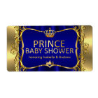 Prince Royal Blue Baby Shower Gold Boy