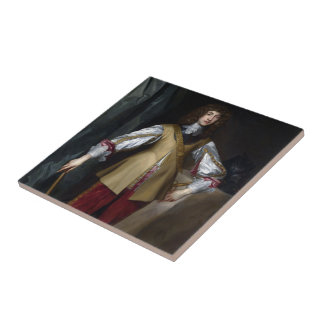 Prince Rupert of the Rhine Small Square Tile