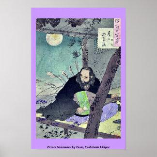 Prince Semimaru by Taiso Yoshitoshi Ukiyoe Print