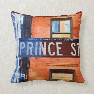 Prince Street Sign NYC Cushion