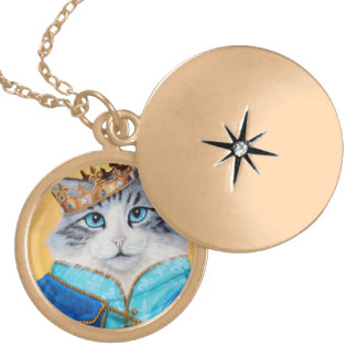 Prince Sully the Kitty Gold Plated Necklace