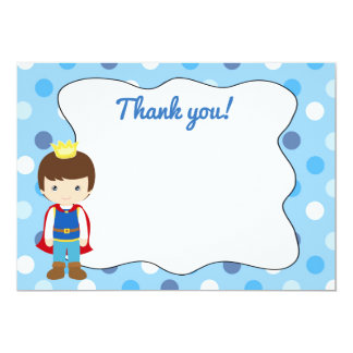 Prince Thank You Card Blank