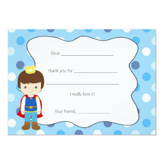 Prince Thank You Card Fill in