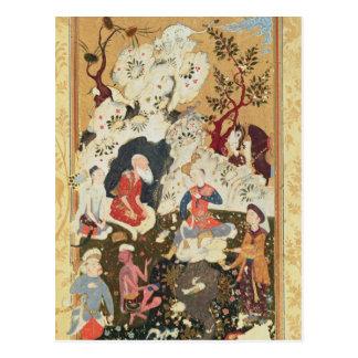 Prince visiting an Ascetic Postcard