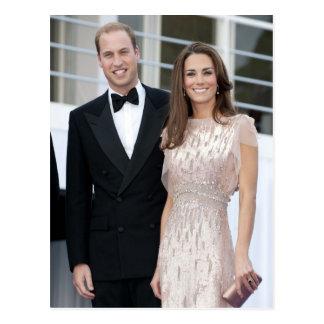 Prince William and Catherine Duchess of Cambridge Postcard