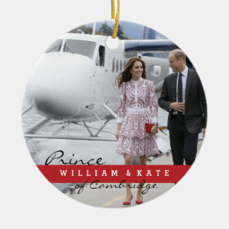 Prince William and Catherine Round Ceramic Decoration