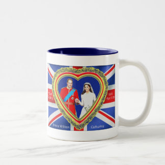 Prince William and Catherine Royal Wedding Two-Tone Coffee Mug
