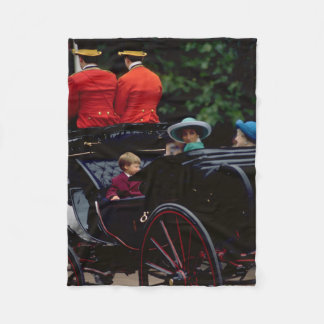 Prince William and Princess Diana on The Mall Fleece Blanket
