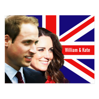 Prince William & Kate Postcard