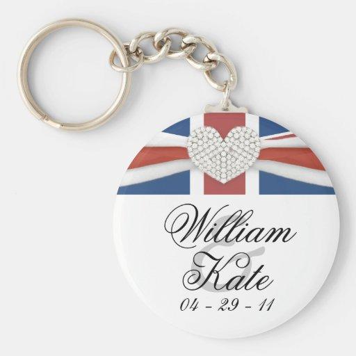 Prince William & Kate - Royal Wedding Souvenir Key Chains