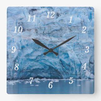 Prince William Sound Glacier Square Wall Clock