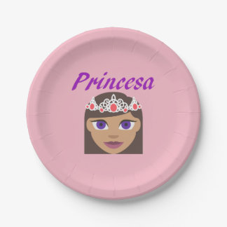Princesa (Princess) Paper Plate