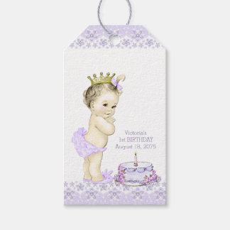 Princess 1st Birthday Party Thank You Tags