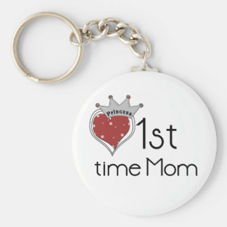 Princess 1st Time Mom - Customized Keychains