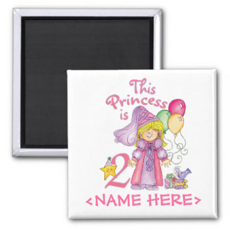 Princess 2nd Birthday Magnet