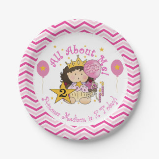 Princess 2nd Happy Birthday Paper Plates 7 Inch Paper Plate