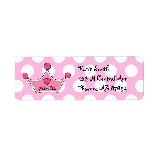 Princess Address Labels