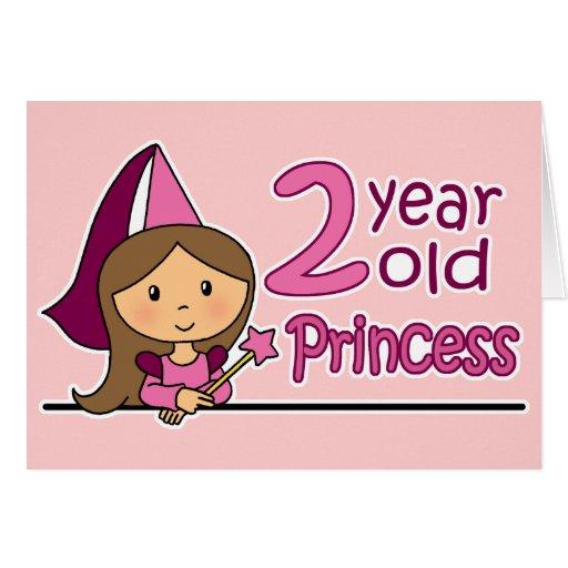Princess Age 2 Greeting Card