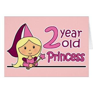 Princess Age 2 Greeting Cards