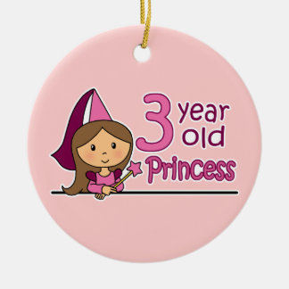 Princess Age 3 Ceramic Ornament
