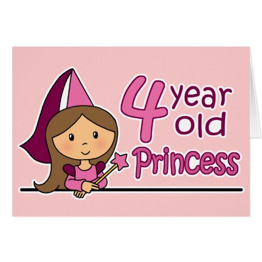 Princess age greeting card zazzle
