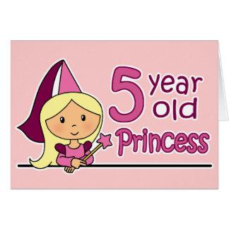 Princess Age 5 Greeting Cards