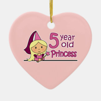 Princess Age 5 Ceramic Ornament