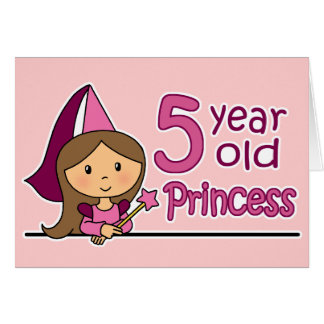 Princess Age 5 Greeting Card