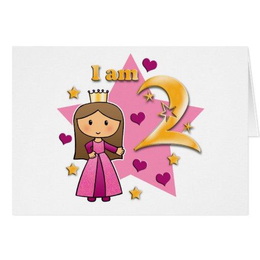 Princess Age Two Greeting Card