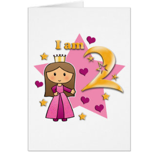 Princess Age Two Greeting Card
