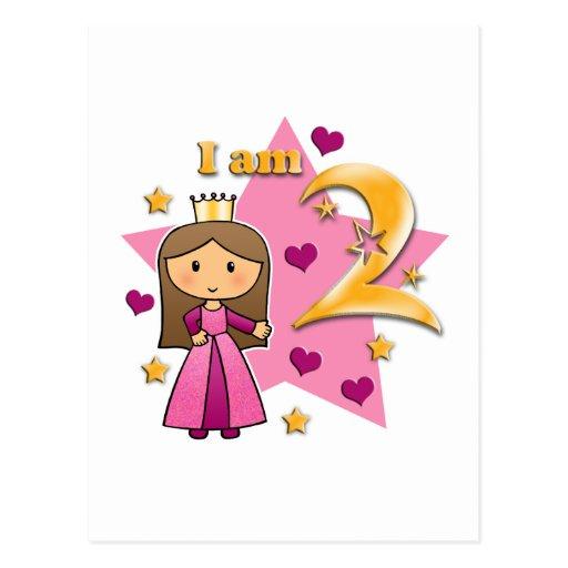 Princess Age Two Postcard