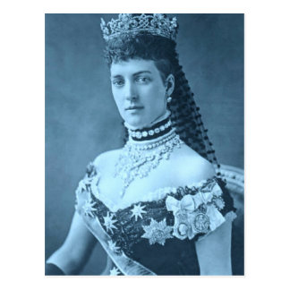 Princess Alexandra of Denmark in blue Postcard