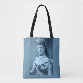 Princess Alexandra of Denmark in blue print Tote Bag