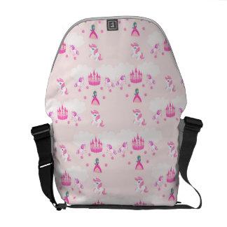 Princess and castle pattern Rickshaw Messenger Bag