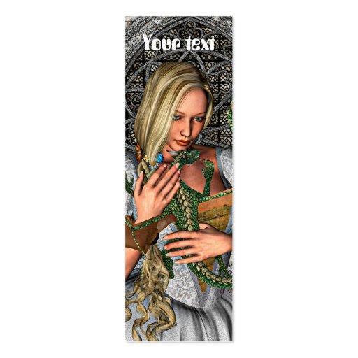 Princess and Dragon Business Card Templates