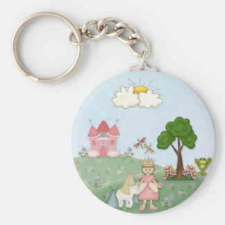 Princess and her castle key ring