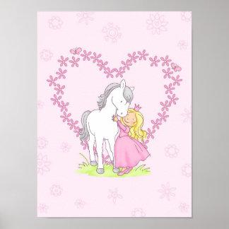 Princess and Horse Poster