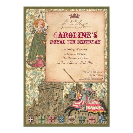 Princess and Knight Party Invitation