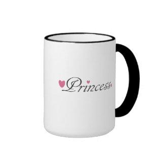 Princess and Pink Hearts Mug