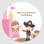 Princess and Pirate Stickers