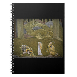 Princess and the Trolls Walking in Forest Note Book
