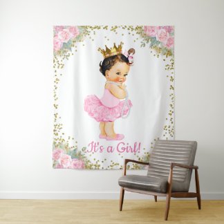 Princess Baby Shower Backdrop Tapestry