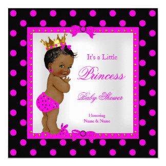 Princess Baby Shower Girl Hot Pink Ethnic 13 Cm X 13 Cm Square Invitation Card