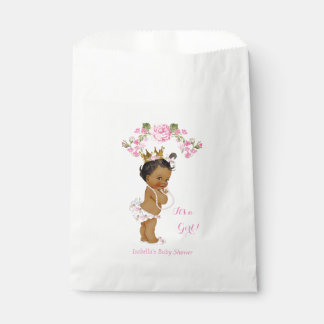 Princess Baby Shower Girl White Pink Ethnic Favour Bag