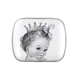 Princess Baby Shower Jelly Belly Candy Tin