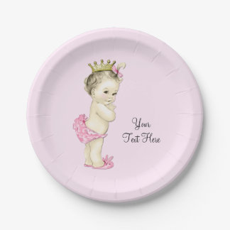 Princess Baby Shower 7 Inch Paper Plate