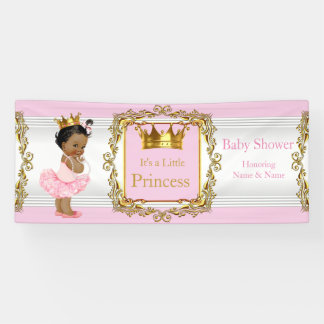 Princess Baby Shower Pink Gold White Ethnic
