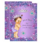 Princess Baby Shower Purple Teal Blue Pink Card